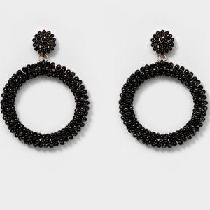 Sugarfix by Baublebar black beaded hoops